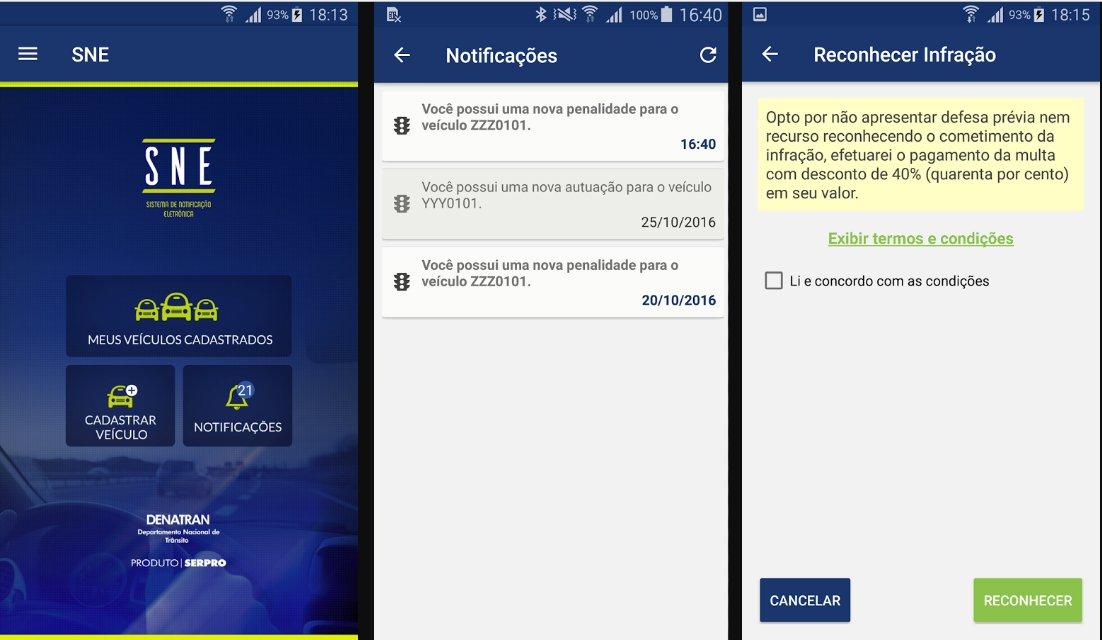 Aplicativo fará notificação de multas pelo celular | Foto: Reprodução/Google Play