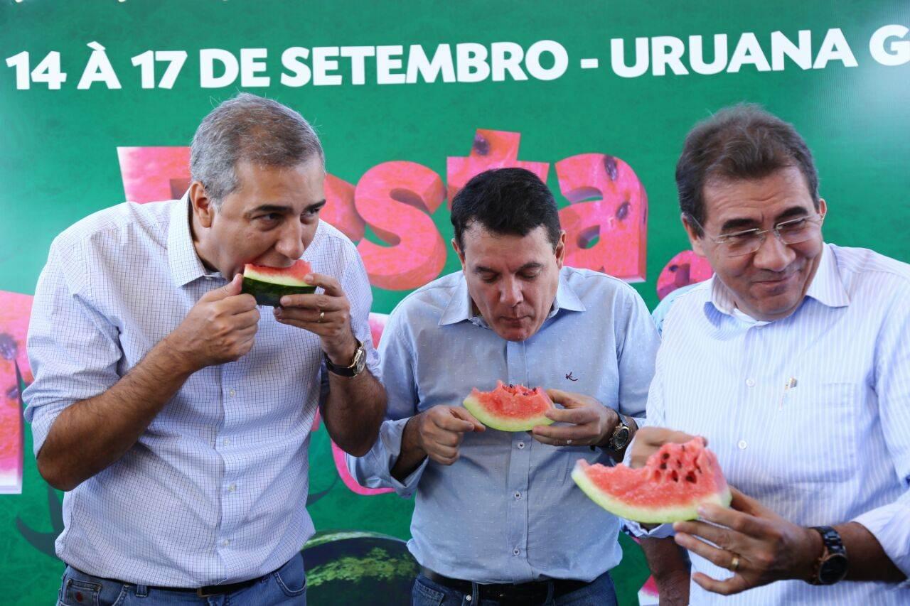 Vice-governador José Eliton (PSDB) participou de assinatura deconvênio para obras na região do Vale de São Patrício | Foto: Divulgação/Governo de Goiás