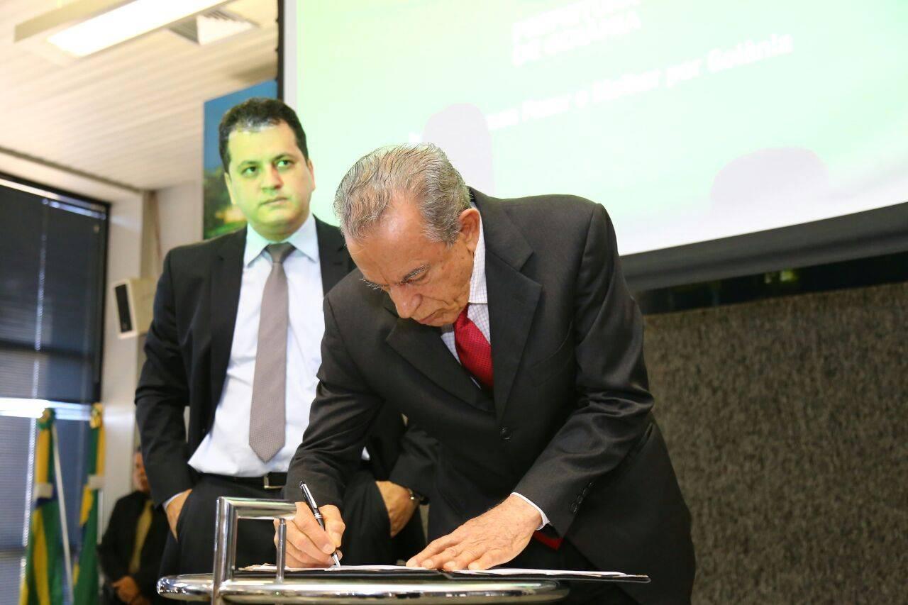 Lançamento da nova plataforma foi realizado na manhã desta quinta-feira, 10, pelo prefeito Iris Rezende | Foto: Jackson Rodrigues