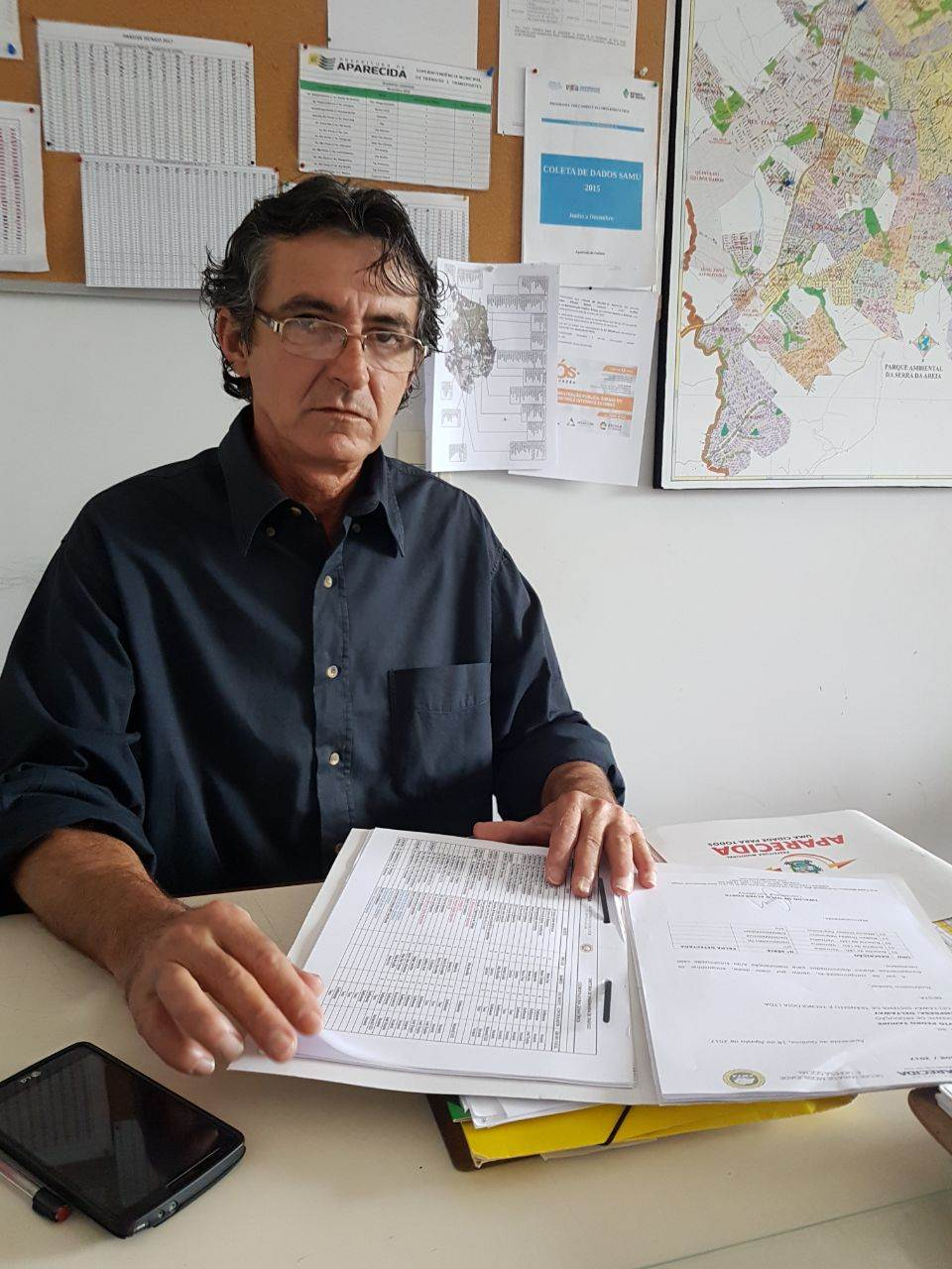Coordenador de semafórica da SMTA, Rivaldo de Melo | Foto: Folha Z