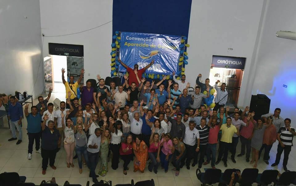 Chico Abreu foi reeleito por unanimidade presidente do PSDB de Aparecida de Goiânia em evento no auditório da Faculdade Alfredo Nasser | Foto: Valdemy Teixeira