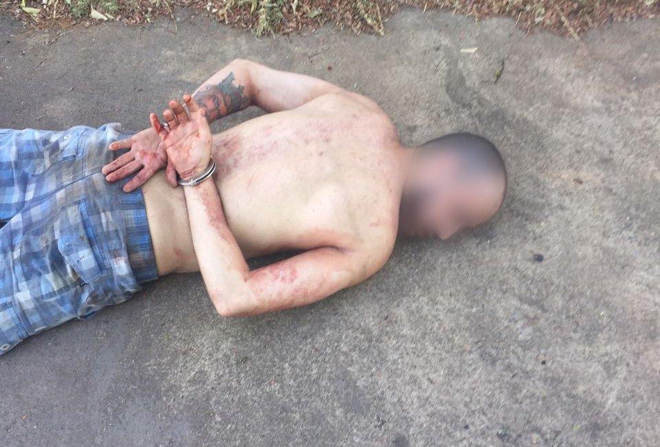 Criminoso de 25 anos foi preso após tentativa de latrocínio | Foto: Divulgação / PM
