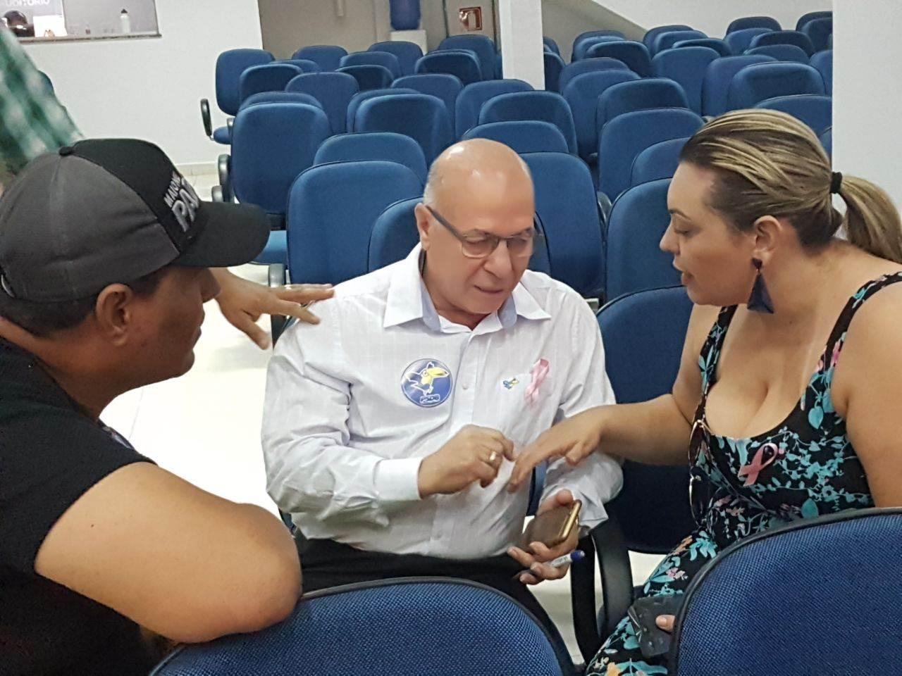 Líder classista Maione Padeiro, empresário Professor Alcides e advogada Lorena Ayres | Foto: Valdemy Teixeira
