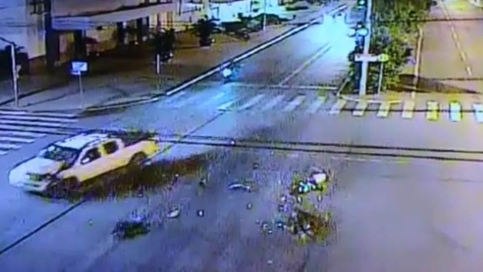 Motorista bêbado atropelou e matou mulher em Aparecida de Goiânia | Foto: Reprodução / Câmeras de Segurança