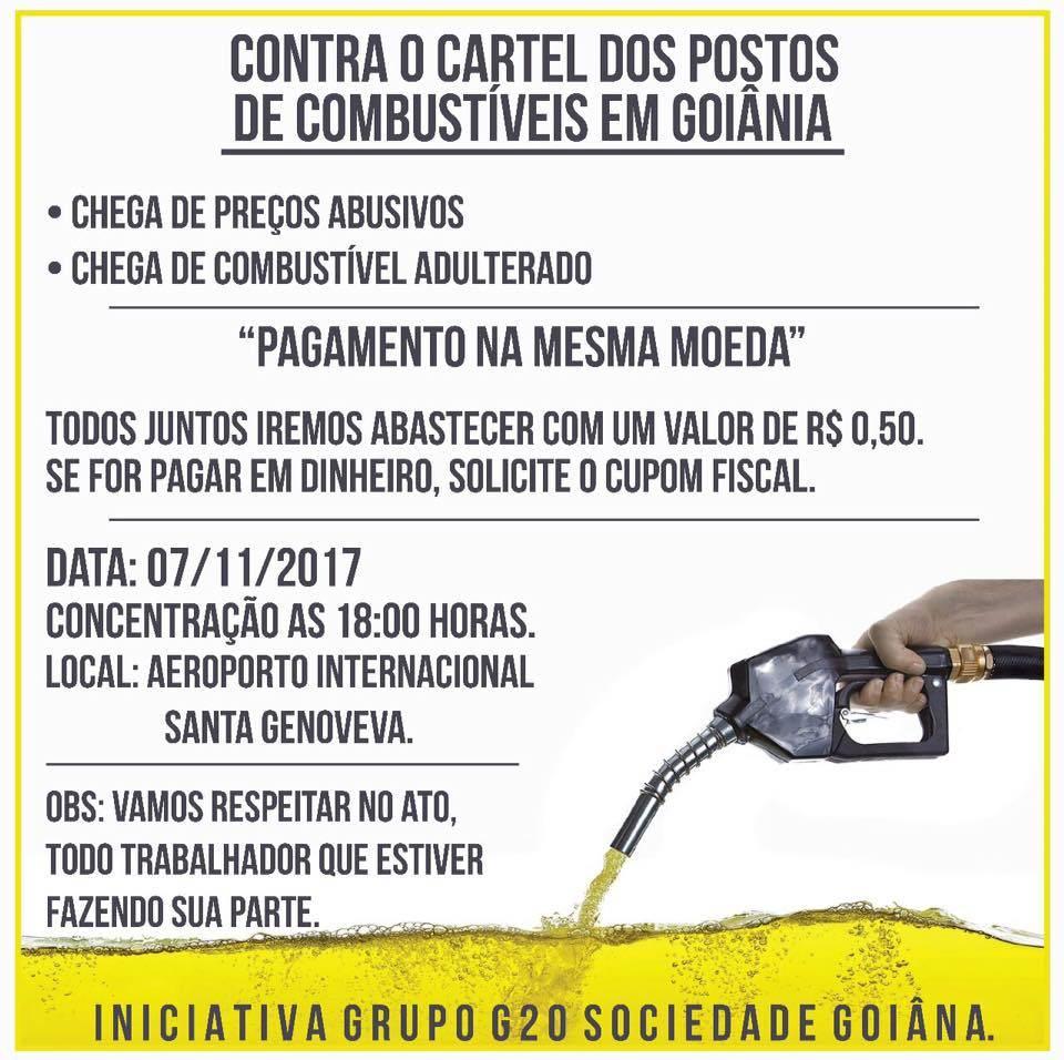 Panfleto sobre a manifestação divulga pelas redes sociais | Foto: Divulgação