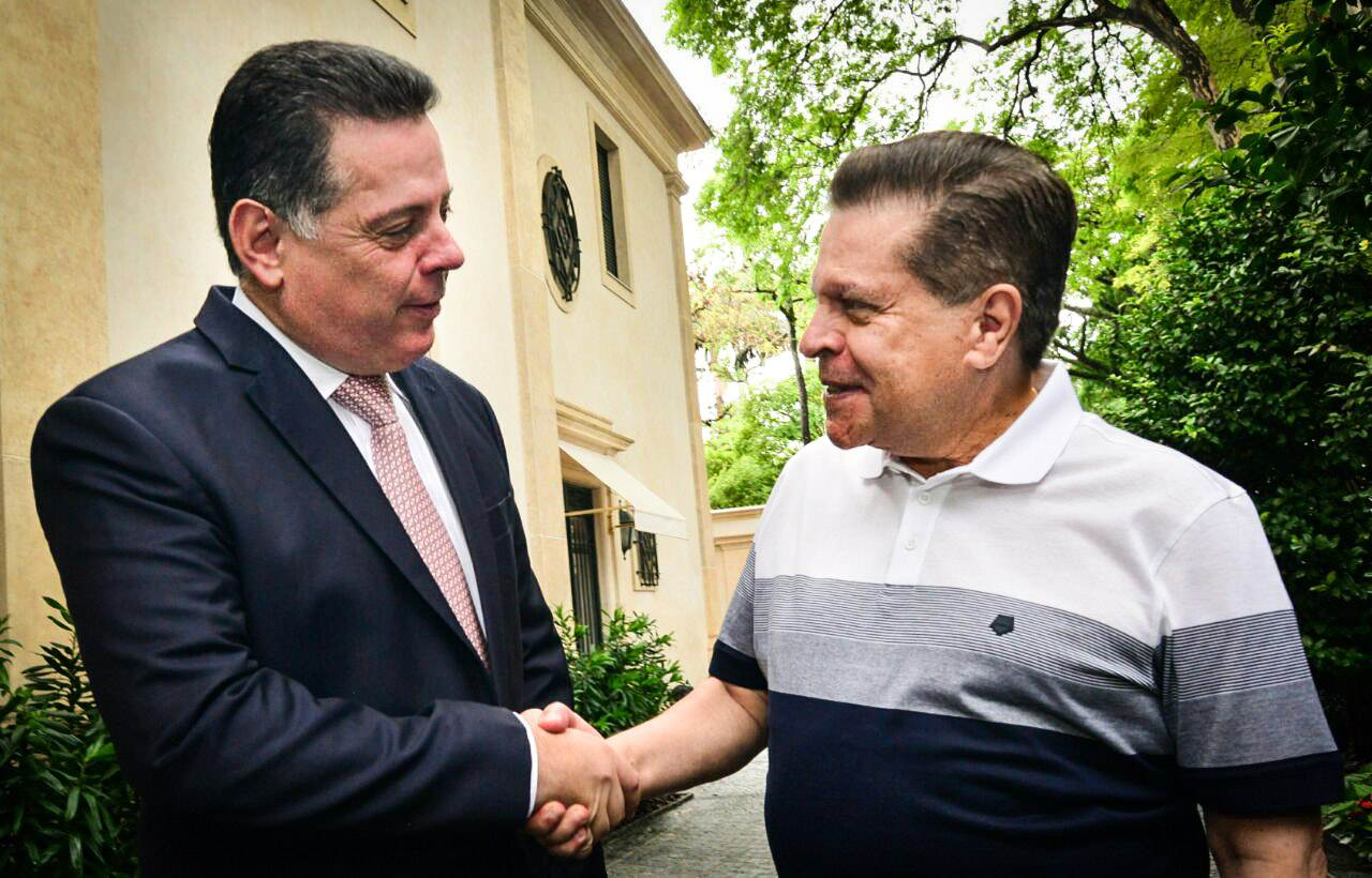 Governador Marconi Perillo e presidente do Grupo Caoa, Carlos Alberto de Oliveira Andrade | Foto: Wagnas Cabral