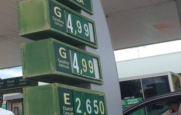 Gasolina ainda pode chegar a R$ 5 em Goiânia | Foto: Ilustrativa
