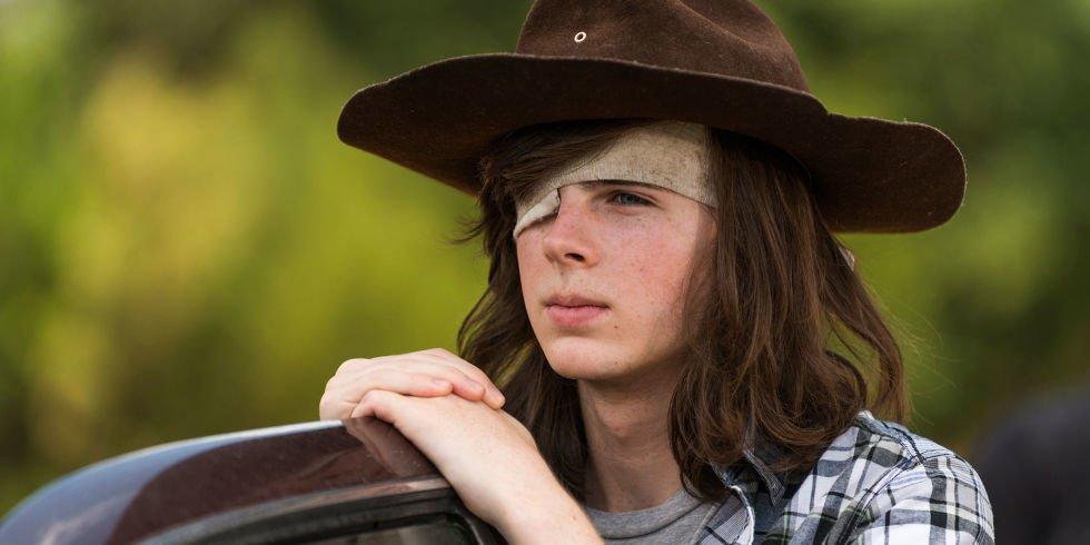 Carl Grimes é interpretado por Chandler Riggs em The Walking Dead | Foto: Divulgação