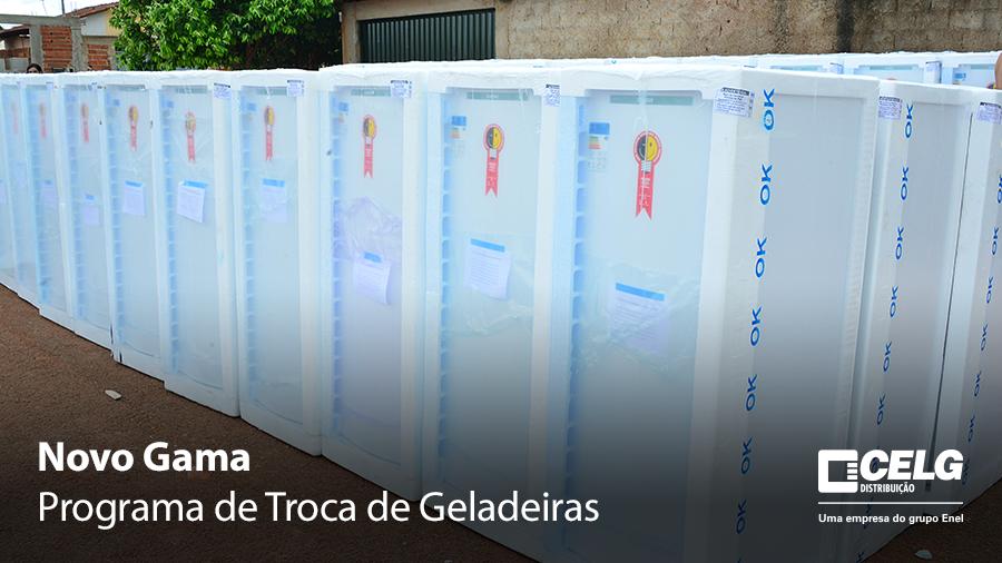 Geladeiras velhas foram trocadas por modelos novos em Novo Gama | Foto: Divulgação