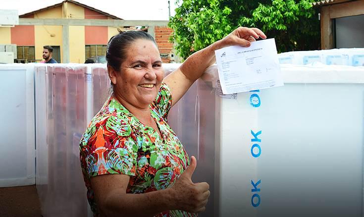 Sorteio de geladeiras da Celg em Catalão movimentou a cidade | Foto: Divulgação