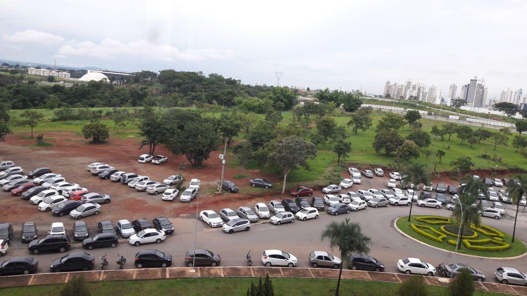 Estacionamento no Paço Municipal | Foto: WhatsApp/ Folha Z