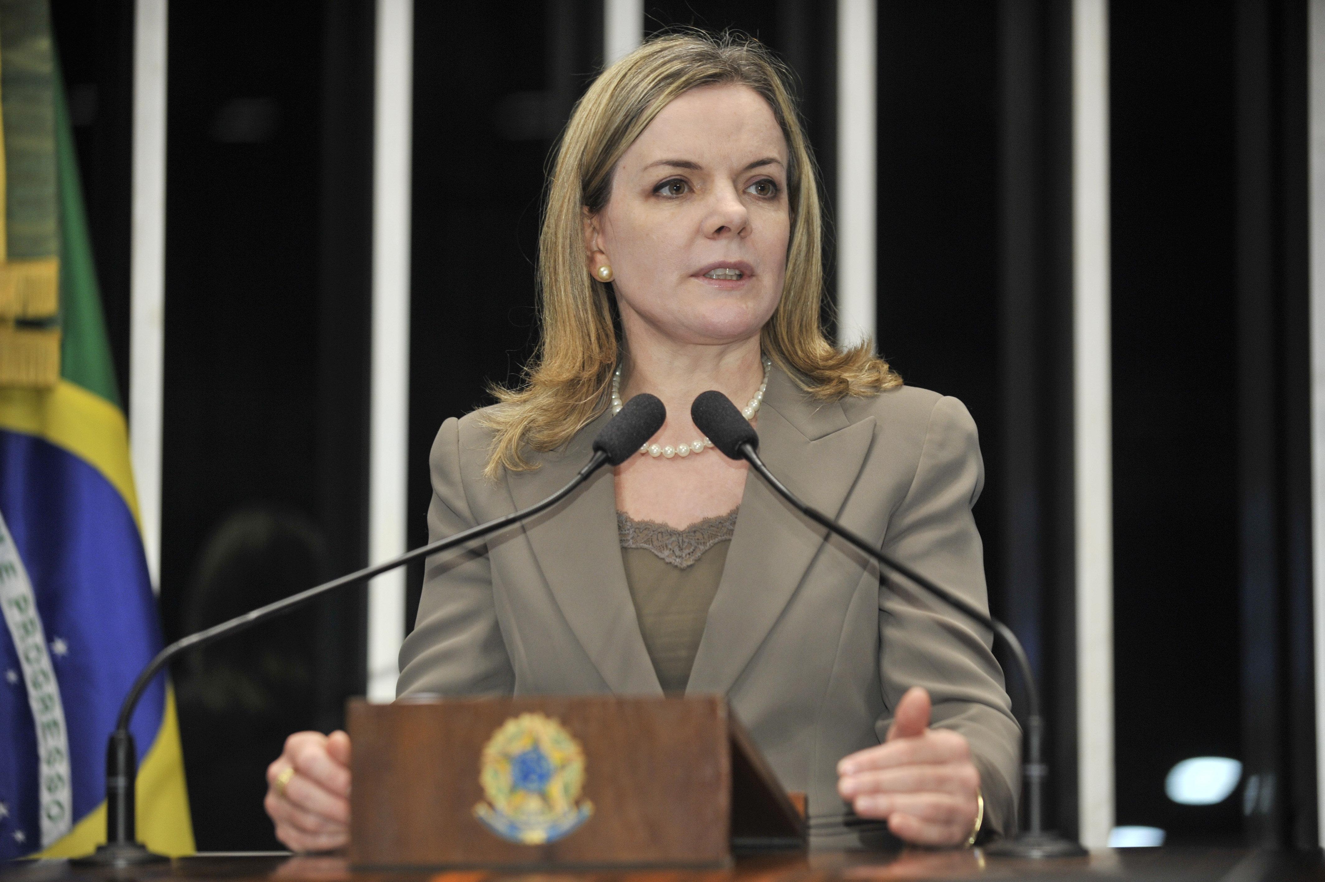 Senadora Gleisi Hoffmann (PT-PR) | Foto: Waldemir Barreto/ Agência Senado