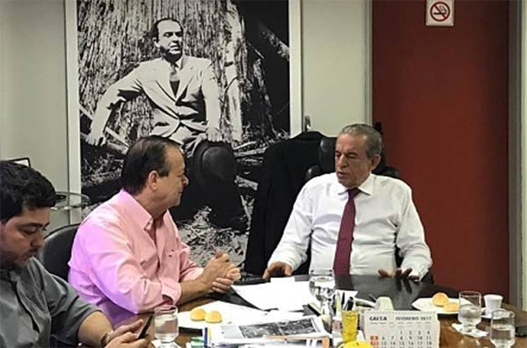 Deputado federal Jovair Arantes (PTB) e o prefeito de Goiânia Iris Rezende (PMDB) | Foto: Reprodução/ Redes Sociais
