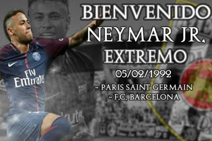 Mérida anunciou contratação de Neymar | Foto: Reprodução/ Twitter