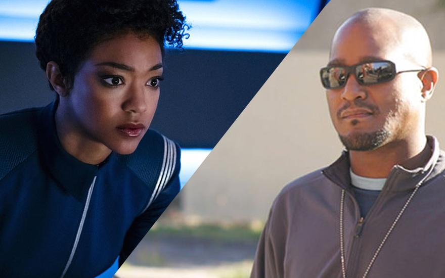 Sonequa Martin-Green em Star Trek: Discovery e Seth Gilliam em The Wire | Foto: Reprodução