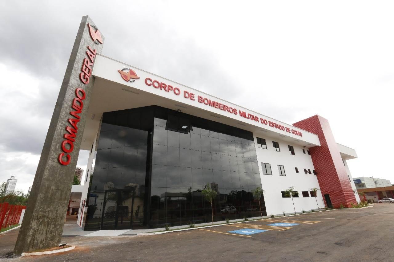 Novo quartel do Corpo de Bombeiros Militar do Estado de Goiás (CBMGO) no Jardim América, em Goiânia | Foto: Divulgação