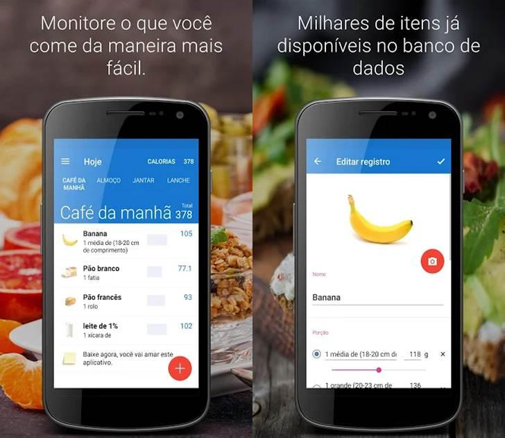 Aplicativo Food Diary auxilia no controle da dieta | Foto: Divulgação
