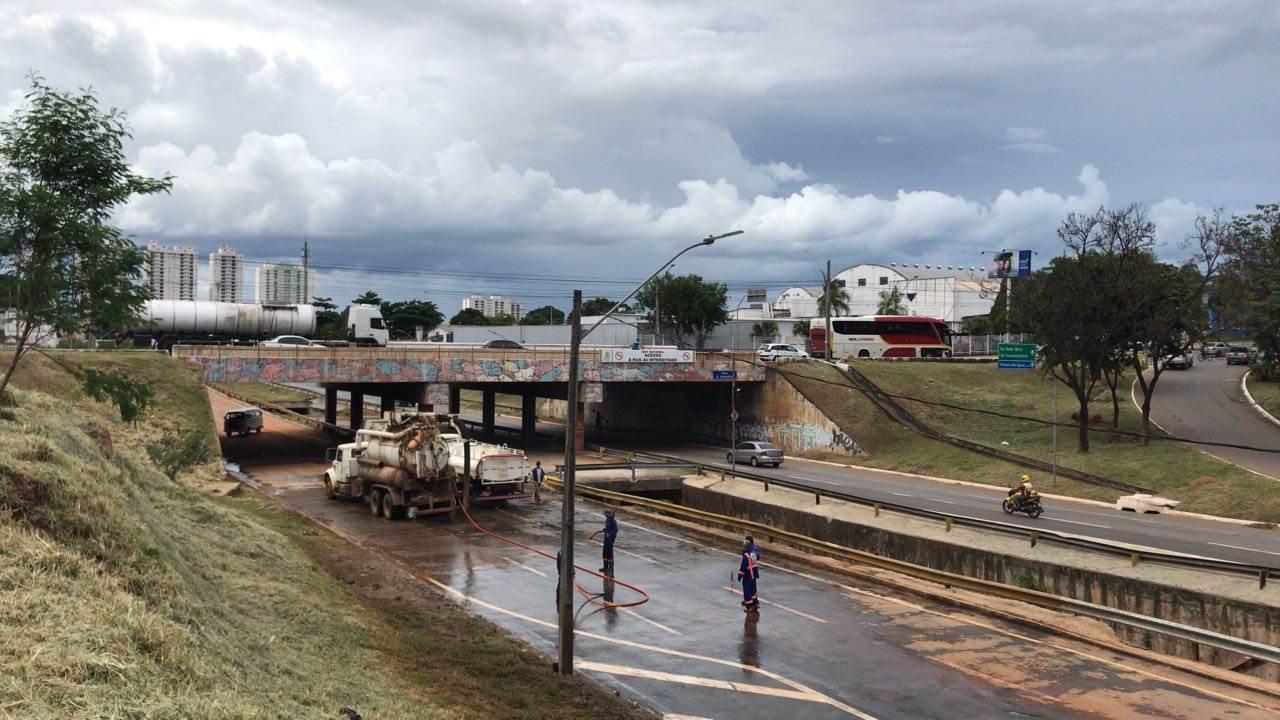 Marginal Botafogo foi interditada no dia 14 de dezembro   Foto: Prefeitura de Goiânia