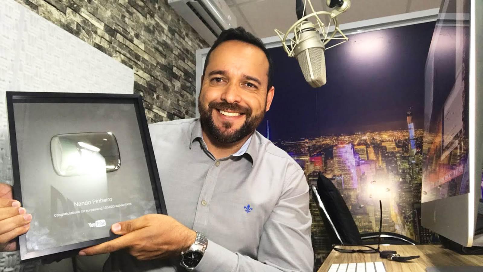 Nando Pinheiro palestra em Anápolis sobre como ser bem sucedido na internet | Foto: Divulgação