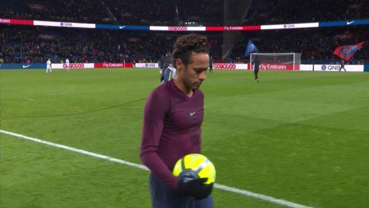 Neymar saiu vaiado navitória de 8 a 0 do PSG sobre o Dijon | Foto: Reprodução