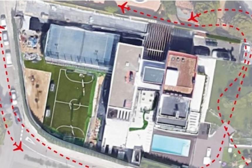 Nenhum avião pode voar por cima da casa de Messi em Barcelona | Foto: Reprodução/ Olé