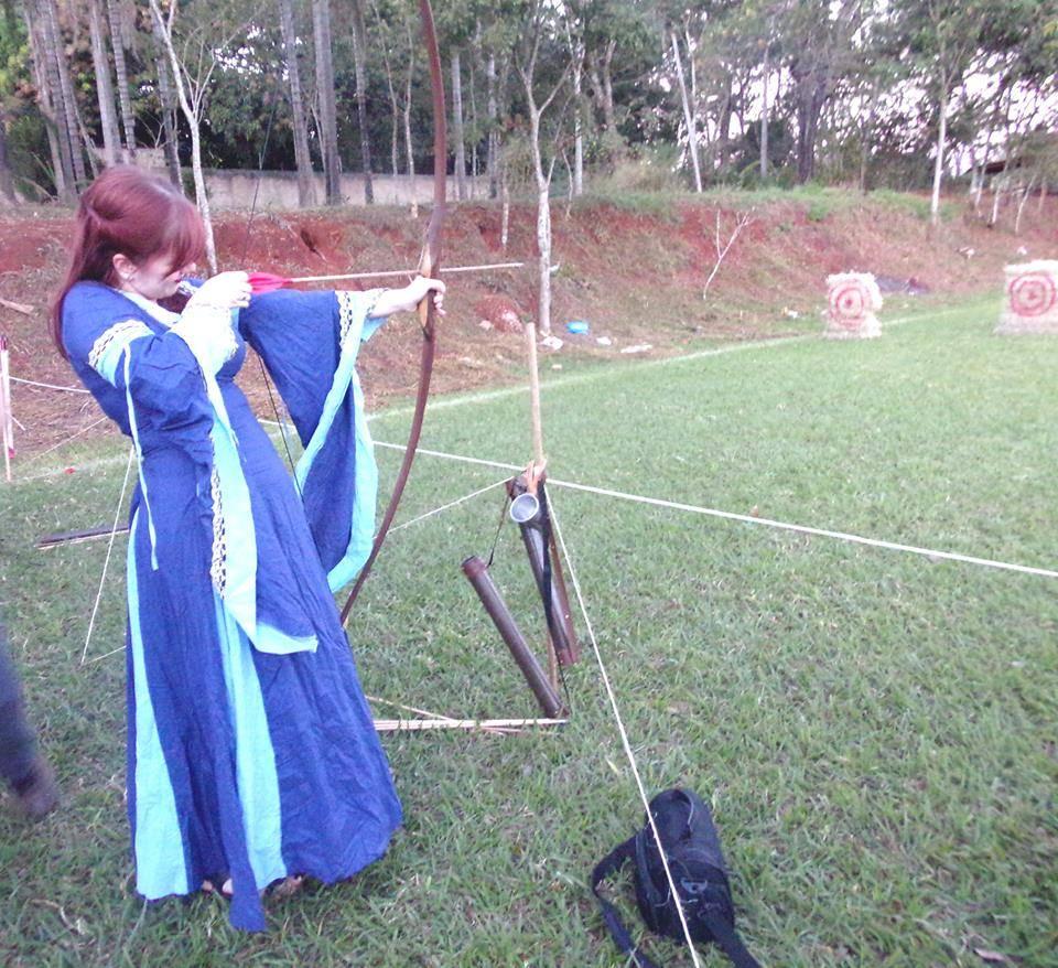 Arco e flecha no 1º Encontro Valhalla   Foto Divulgação