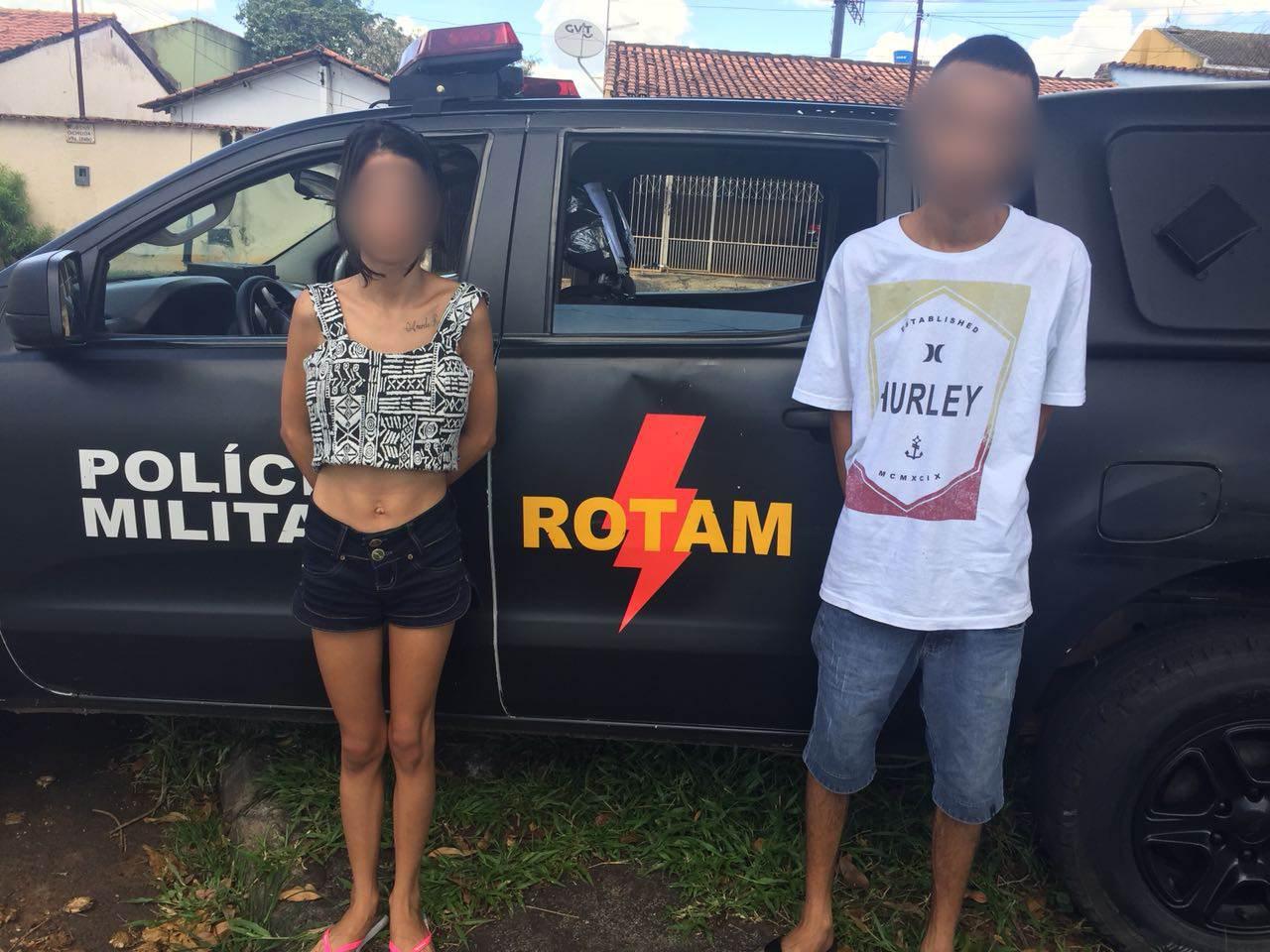 Marido e mulher foram presos pela Polícia Militar de Goiás (PMGO) nesta quarta-feira, 14   Foto: Divulgação/PM