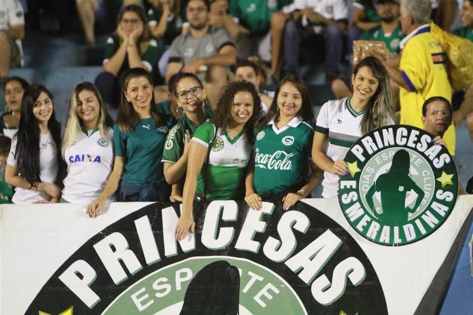 Em solidariedade a musa, mulheres não pagarão para ver Goiás e Coritiba   Foto: Reprodução/ Facebook GEC