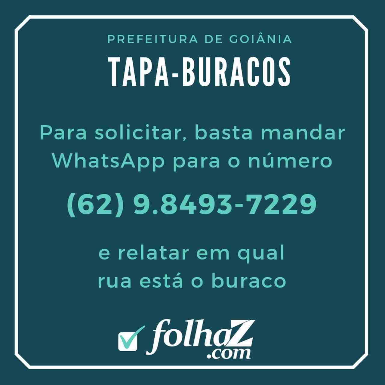 WhatsApp do Tapa-Buracos em Goiânia