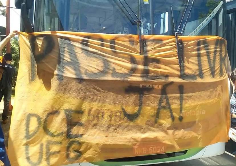 Alunos da UFG convocam manifestações contra atrasos do Passe Livre em Goiás | Foto: Divulgação/ DCE-UFG