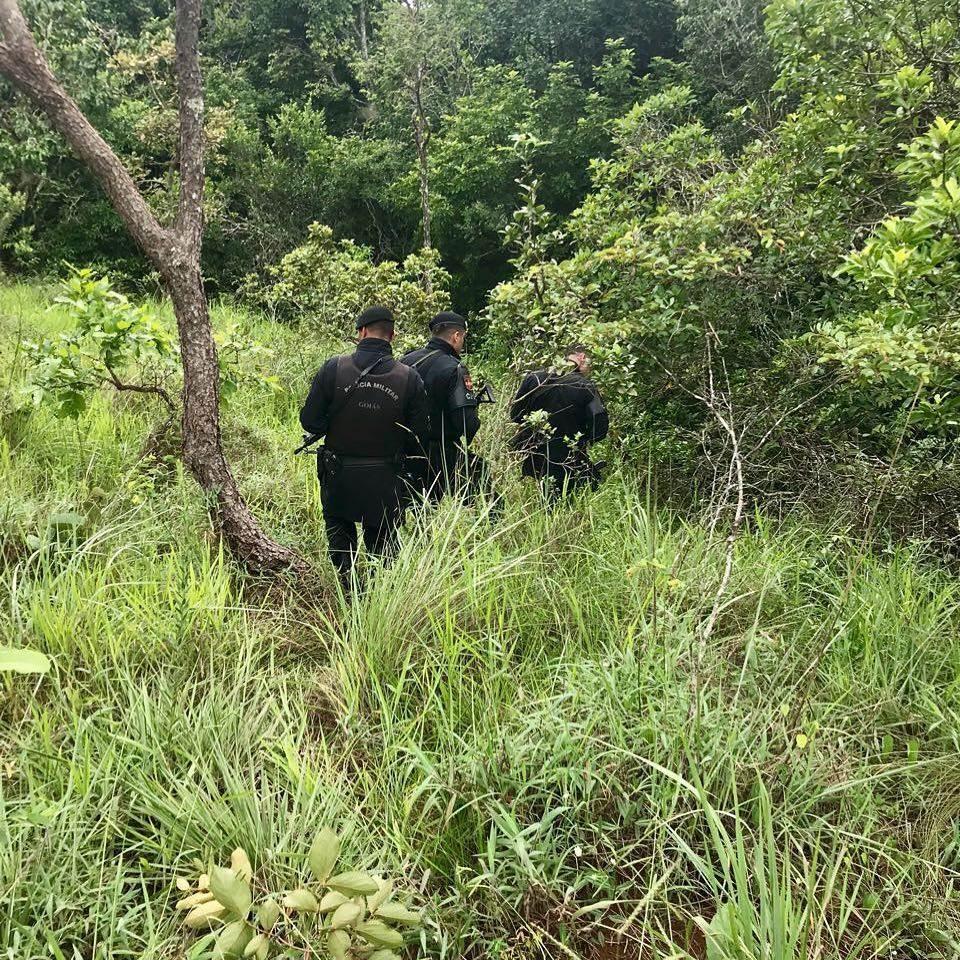 Criminosos fugiram para a mata. PM, com apoio de um helicóptero, faz buscas na região do Rio Caldas | Foto: ilustração