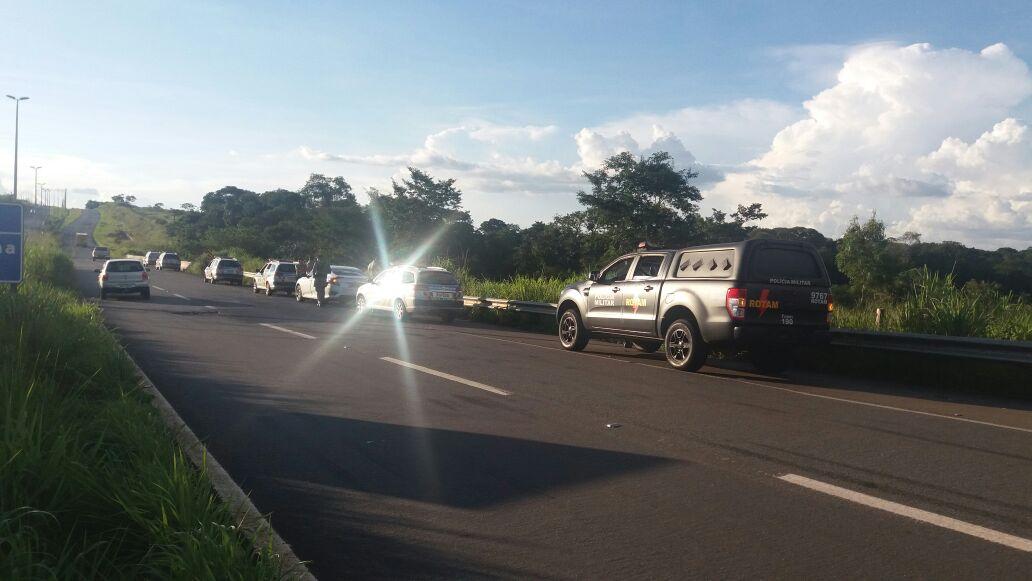 Sequência de roubos acaba em perseguição policial, em Bela Vista de Goiás | Foto: Divulgação/ PM