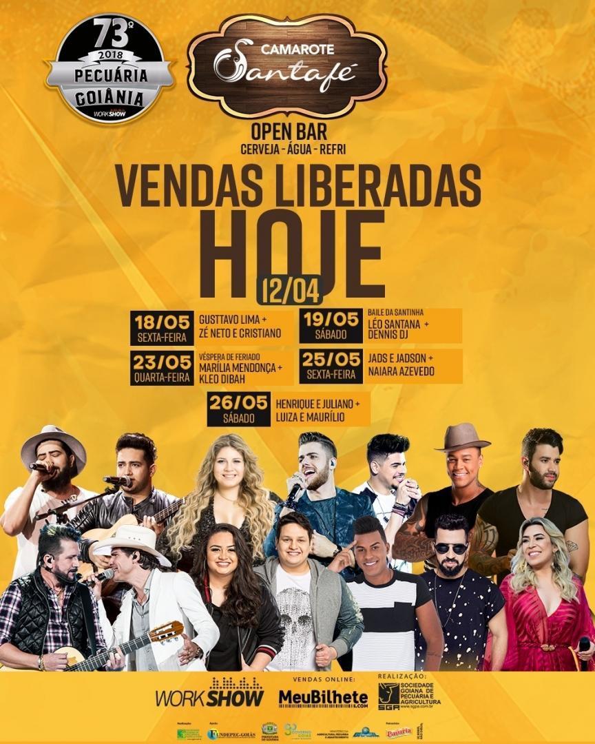 Boate Santafé promoverá seu camarote open bar na Pecuária de Goiânia 2018 | Foto: Divulgação