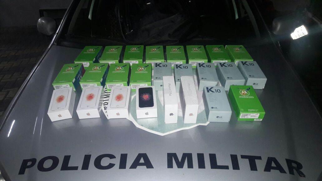 Homem é preso após roubar 13 celulares em shopping em Goiânia | Foto: Divulgação/ PM