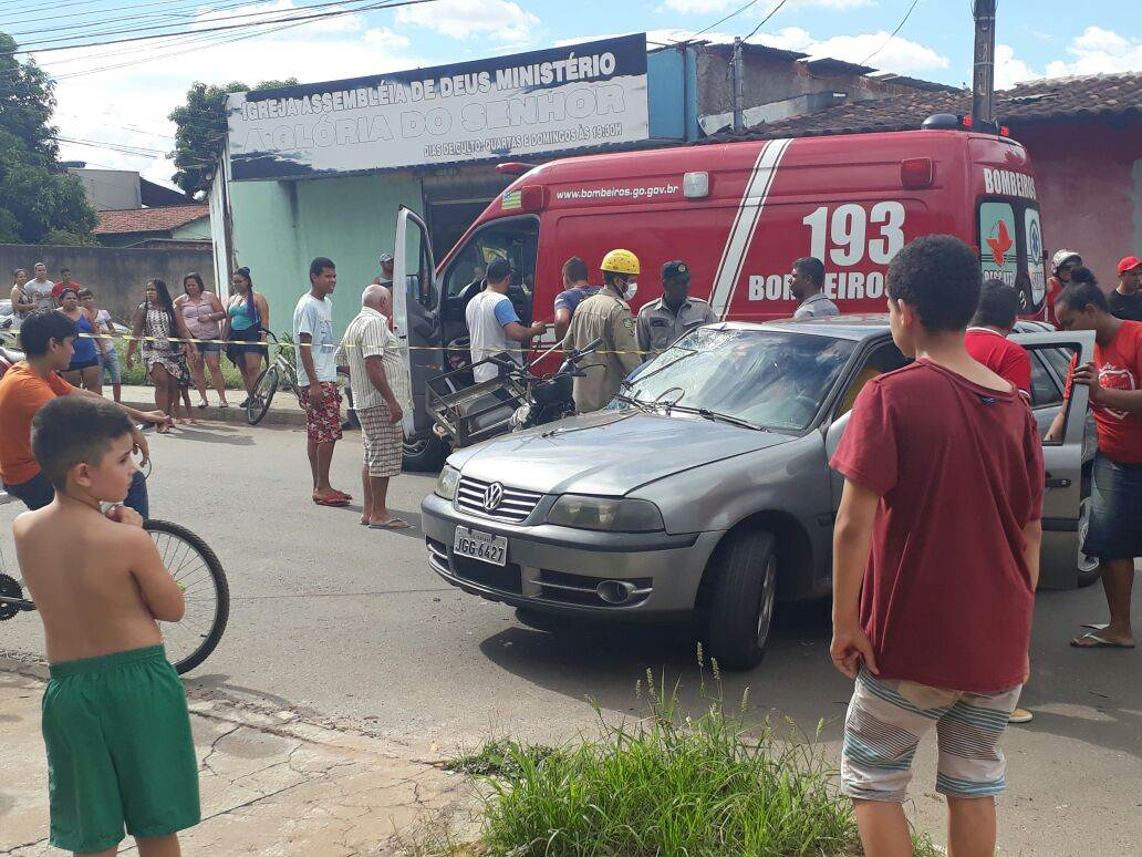 Helicóptero dos Bombeiros resgata vítima de acidente no Goiânia Viva | Foto: Leitor/ WhatsApp