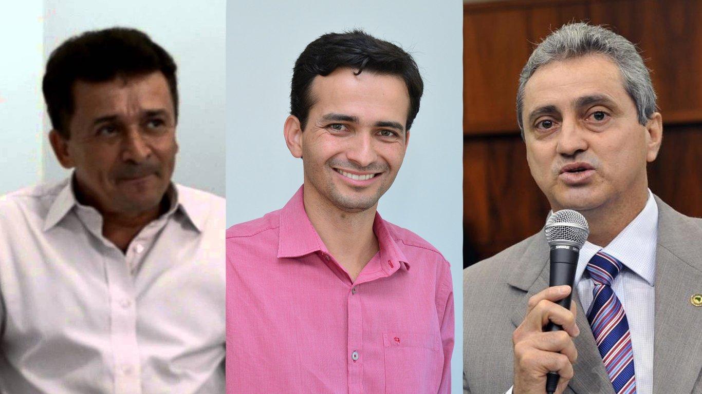 Ezízio Barbosa, Max Menezes e Ozair José | Fotos: Reprodução