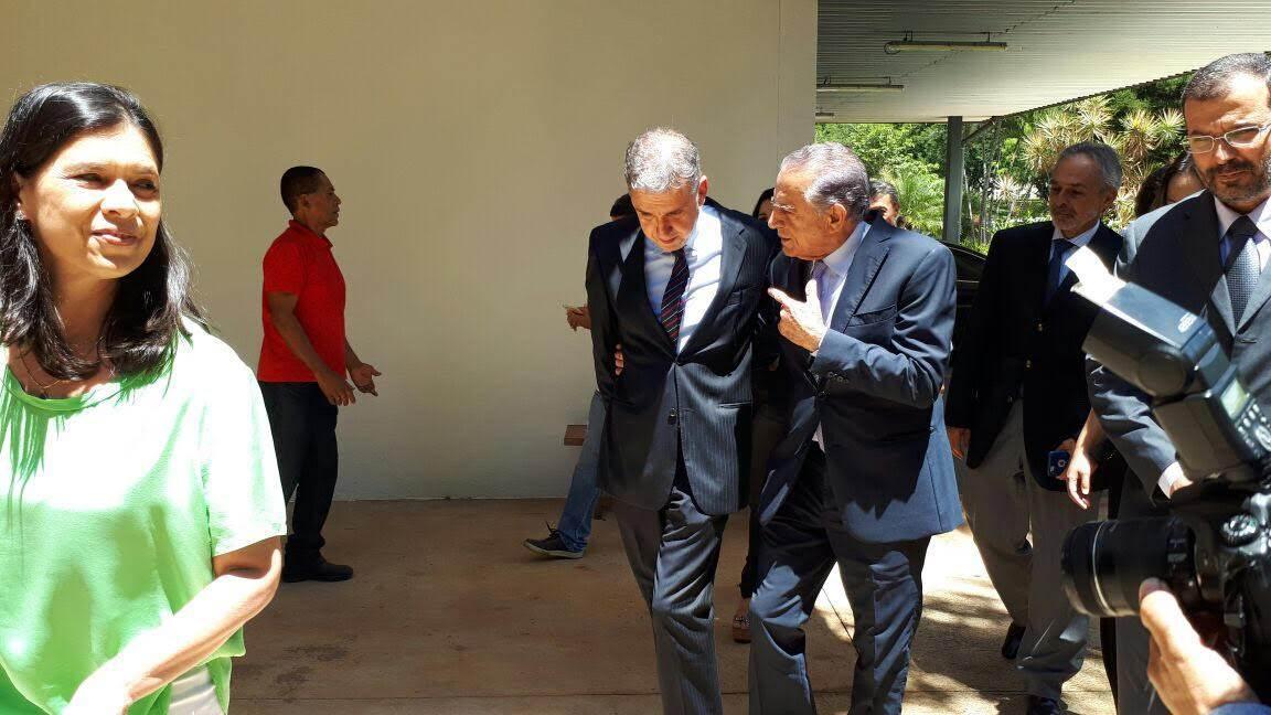 Presidente da Agência Brasil Central João Bosco Bittencourt e prefeito de Goiânia Iris Rezende | Foto: Divulgação/ ABC
