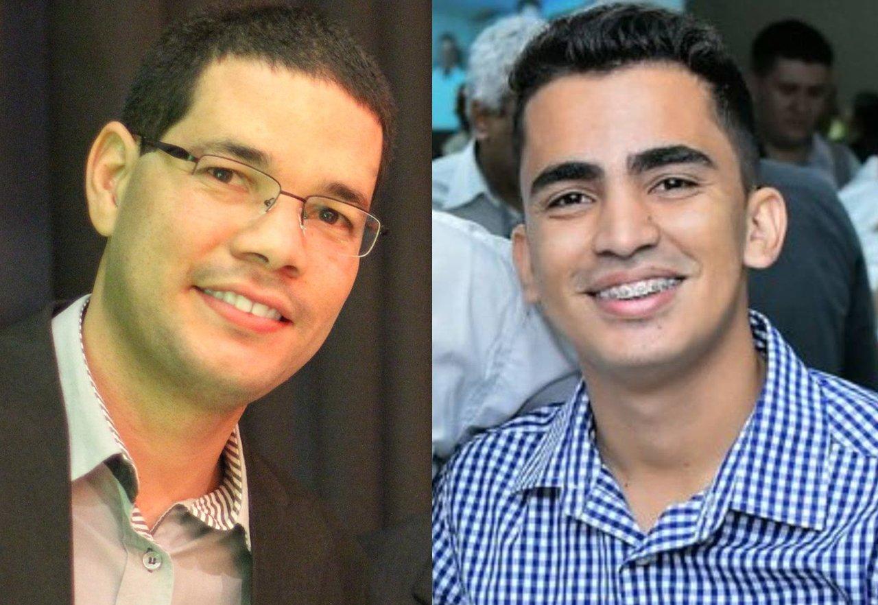 Jornalista Mauro Júnio e presidente estadual da Juventude do MDB Erick Martins | Foto: Arquivo Pessoal