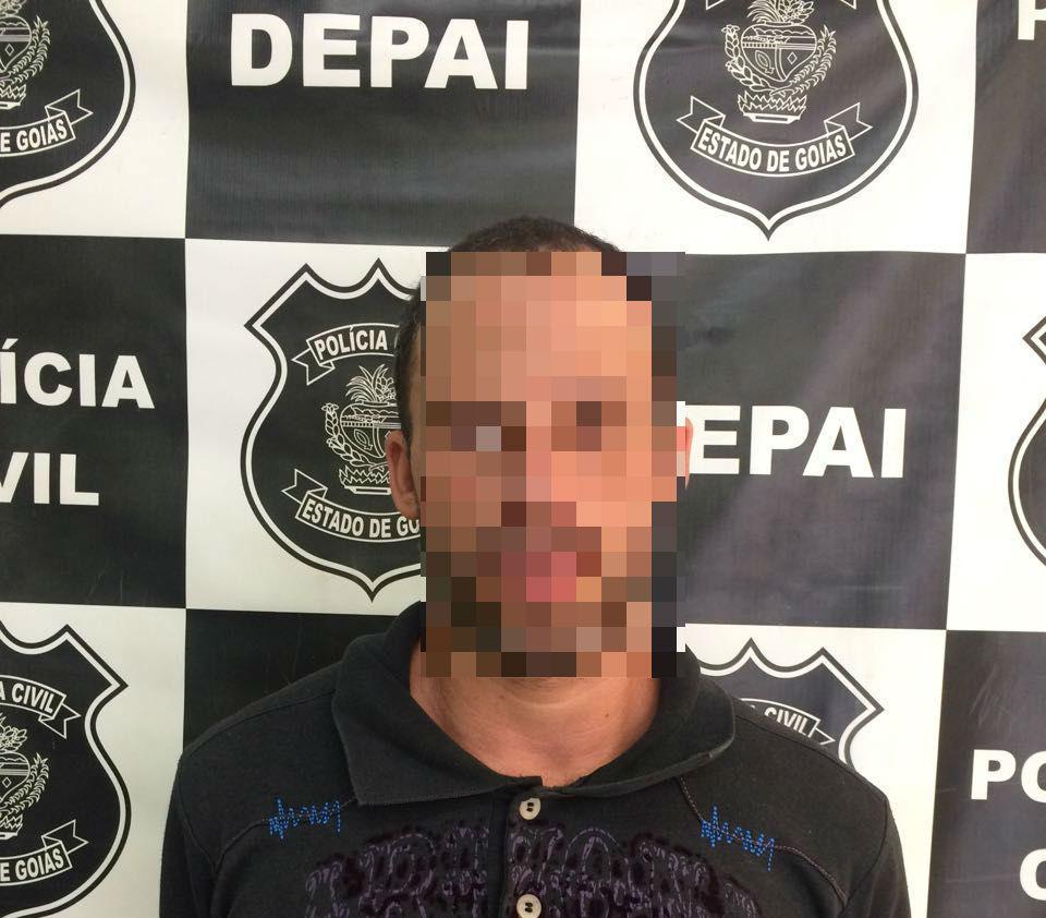 Pedófilo é preso em flagrante em Aparecida aliciando criança de 9 anos | Foto: Divulgação/ PC
