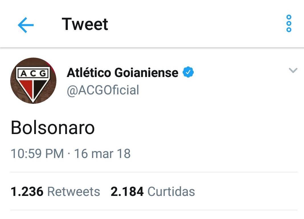 Mensagem polêmica no Twitter foi ação de hacker, diz Atlético | Foto: Reprodução/ Twitter