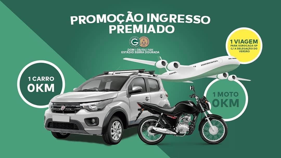 Confira os prêmios que Goiás promove na venda de ingressos para a final do campeonato | Foto: Divulgação/ GEC