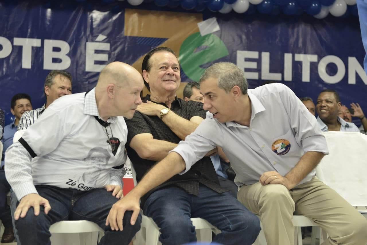 PTB | Demóstenes Torres, Jovair Arantes e José Eliton: os três caminharão juntos nas eleições deste ano | Foto: Ruber Coutor