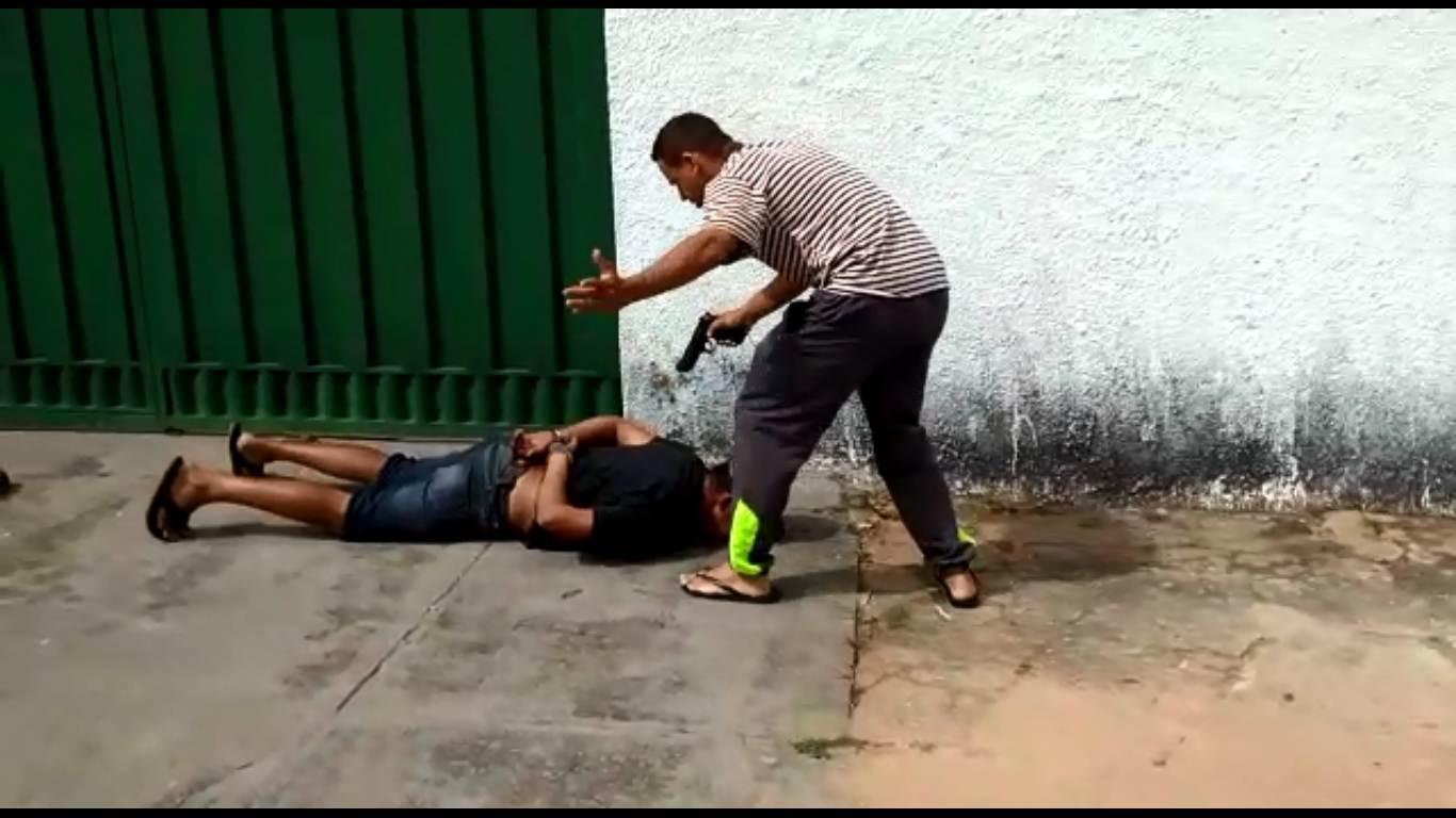 PM de folga interrompe furto a casa no Jardim América nesta sexta-feira, 18 | Foto: Leitor/Whatsapp