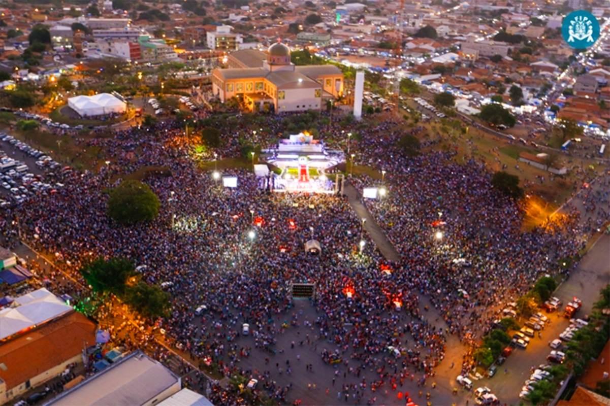 Mais de 3 milhões de pessoas são esperadas para a Festa de Trindade 2018 | Foto: Divulgação/ Santuário Basílica do Divino Pai Eterno