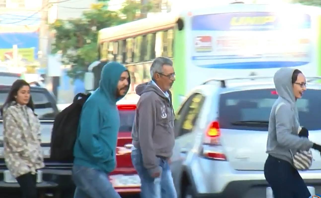 Frio em Goiânia: previsão é de noites e manhãs de baixas temperaturas | Foto: Reprodução/PUC TV