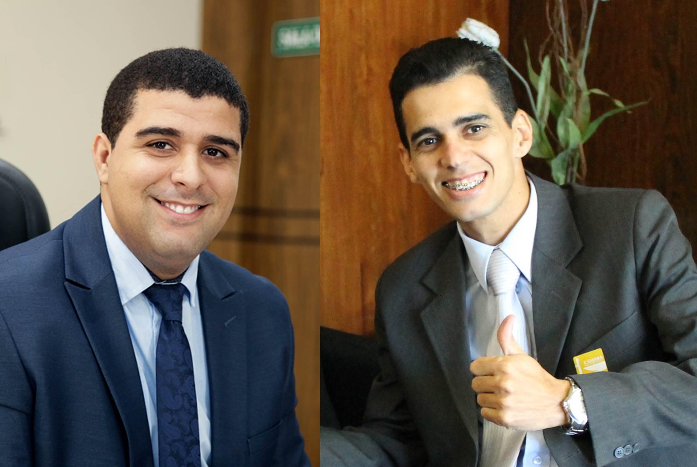 Vereadores petebistas Rafael Novais e Danielzinho | Fotos: Reprodução