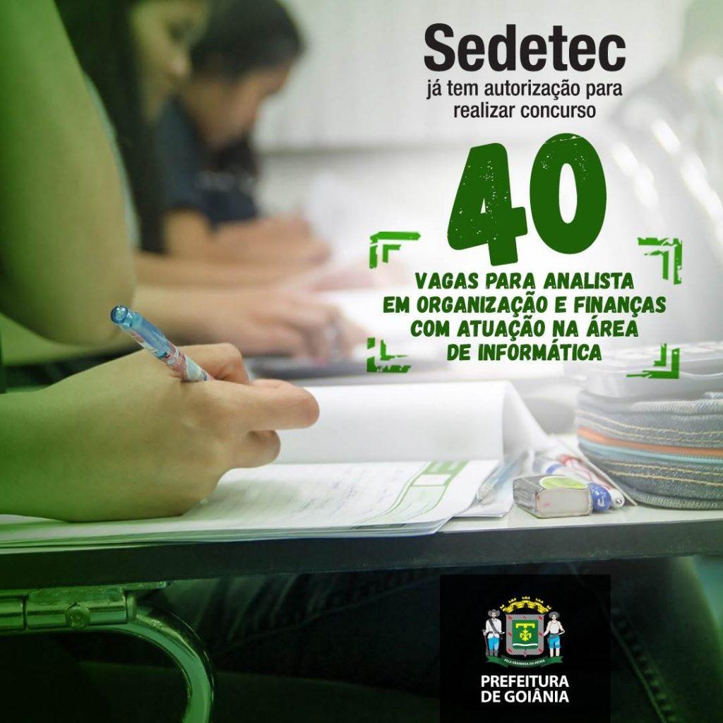 Arte de divulgação do concurso para Sedetec | Foto: Divulgação