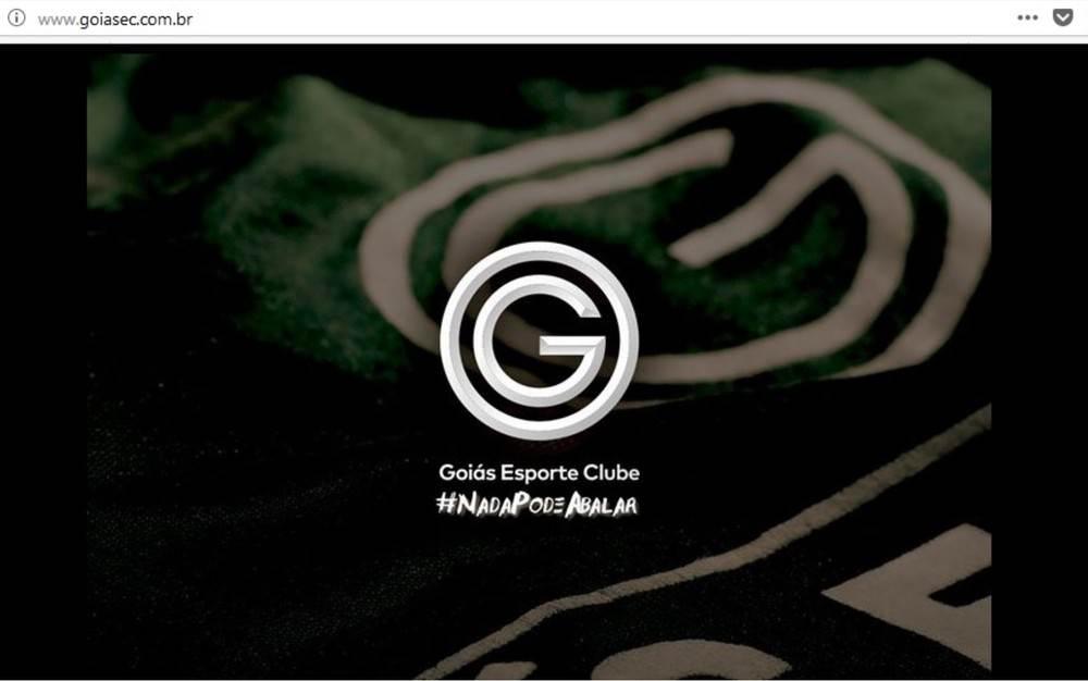Invadido por hackers na noite do último domingo, 20, site do Goiás foi restabelecido com mensagem oficial do clube  | Foto: Reprodução