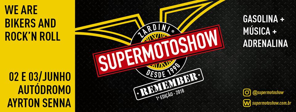 Banner de divulgação do Super Moto Show 2018 | Arte: Reprodução/ Face