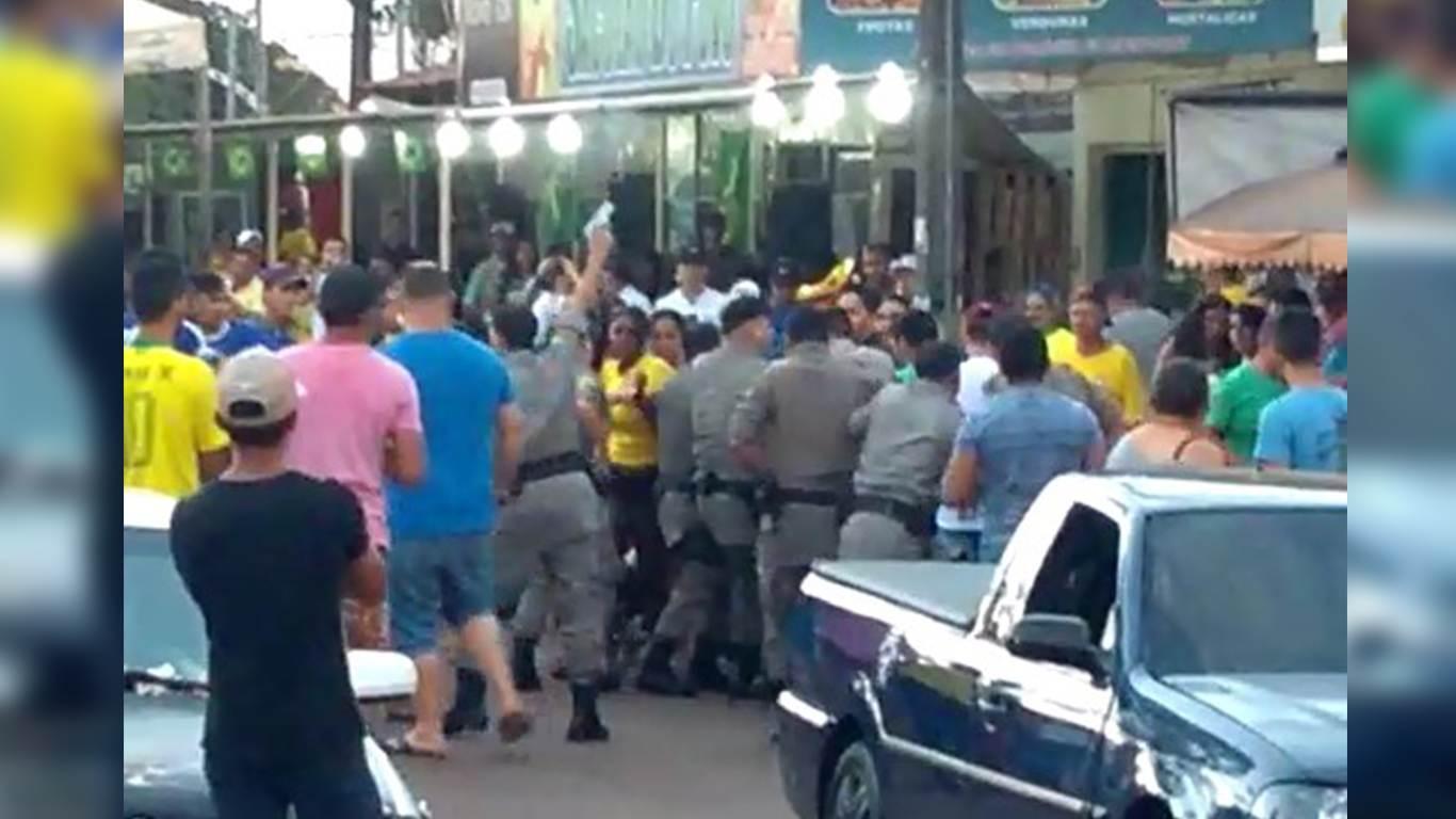 Confusão por som alto termina com três detidos em Terezópolis | Foto: Reprodução